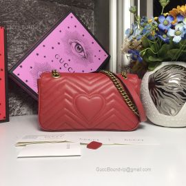 Gucci GG Marmont Small Matelasse Shoulder Bag Red 443497