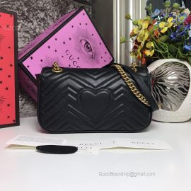 Gucci GG Marmont Small Matelasse Shoulder Bag Black 443497