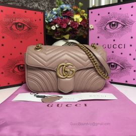 Gucci GG Marmont Small Matelasse Shoulder Bag Nude 443497