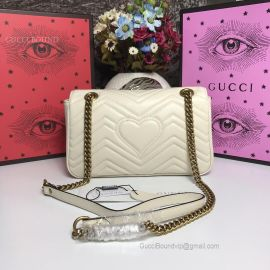 Gucci GG Marmont Small Matelasse Shoulder Bag White 443497