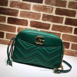 Gucci GG Marmont Medium Matelasse Shoulder Bag Green 443499