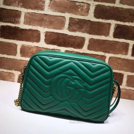 Gucci GG Marmont Medium Matelasse Shoulder Bag Green 443499