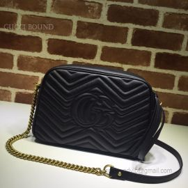 Gucci GG Marmont Medium Matelasse Shoulder Bag Black 443499