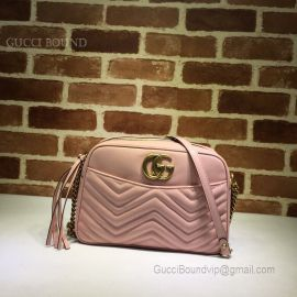 Gucci GG Marmont Medium Matelasse Shoulder Bag Pink 443499