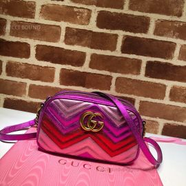Gucci GG Marmont Small Matelasse Shoulder Bag Multicolor Purple 447632