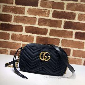 Gucci GG Marmont Velvet Small Shoulder Bag Blue 447632