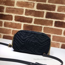 Gucci GG Marmont Velvet Small Shoulder Bag Blue 447632