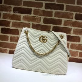 Gucci GG Marmont Matelasse Shoulder Bag White 453569