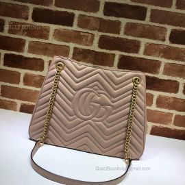 Gucci GG Marmont Matelasse Shoulder Bag Nude 453569