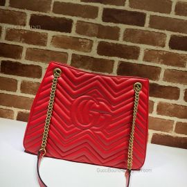 Gucci GG Marmont Matelasse Shoulder Bag Red 453569
