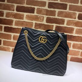 Gucci GG Marmont Matelasse Shoulder Bag Black 453569