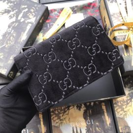 Gucci Dionysus GG Velvet Shoulder Bag Black 476430
