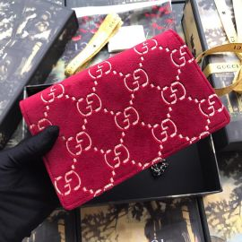 Gucci Dionysus GG Velvet Shoulder Bag Red 476430