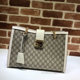 Gucci Padlock GG Medium Shoulder Bag White 479197