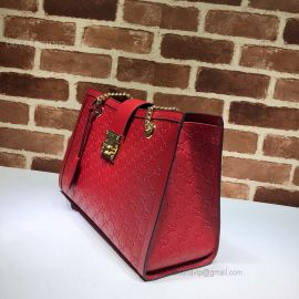 Gucci Padlock Gucci Signature Medium Shoulder Bag Red 479197