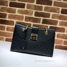 Gucci Padlock Gucci Signature Medium Shoulder Bag Black 479197