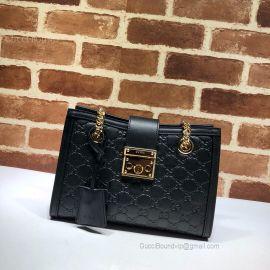 Gucci Padlock Signature Small Shoulder Bag Black 498156