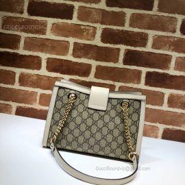 Gucci Padlock Small GG Shoulder Bag White 498156