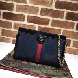 Gucci Ophidia Suede  Small Shoulder Bag Blue 503877