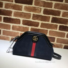 Gucci Re(Belle) Suede Small Shoulder Bag Blue 524620