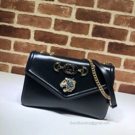 Gucci Rajah Medium Shoulder Bag Black 537241