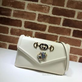 Gucci Rajah Medium Shoulder Bag White 537241