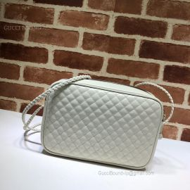 Gucci Quilted Leather Small Shoulder Bag White 541051