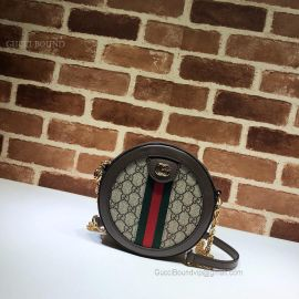 Gucci Ophidia Mini GG Round Shoulder Bag Brown 550618