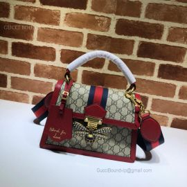 Gucci Queen Margaret Small GG Top Handle Bag Red 476541