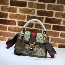 Gucci Queen Margaret Small GG Top Handle Bag Brown 476541