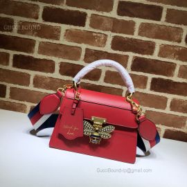 Gucci Queen Margaret Small Top Handle Bag Red 476541