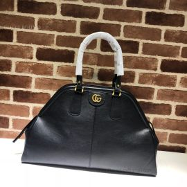 Gucci Re(Belle) Leather Large Top Handle Bag Black 515937