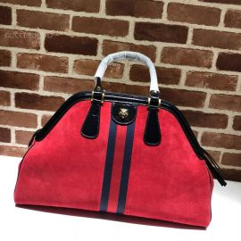 Gucci Re(Belle) Suede Large Top Handle Bag Red 515937