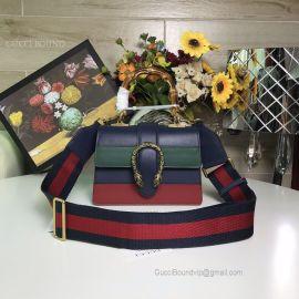 Gucci Dionysus Mini Top Handle Bag Tricolor Blue 523367