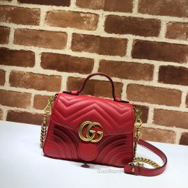 Gucci GG Marmont Mini Top Handle Bag Red 547260