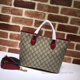Gucci GG Supreme Bosco Tote Red 473887