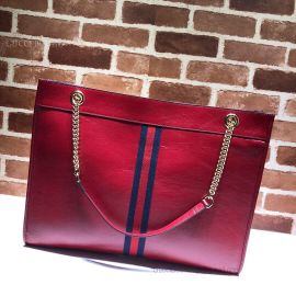 Gucci Rajah Leather Large Tote Red 537219