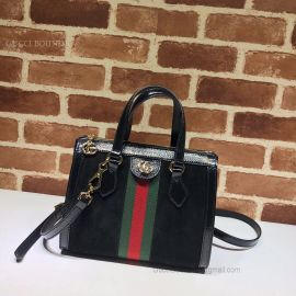 Gucci Ophidia Small Suede Tote Bag Black 547551