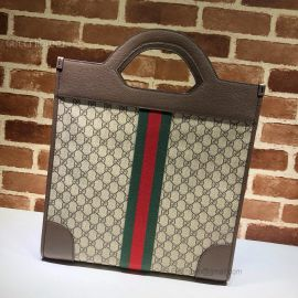 Gucci Ophidia GG Medium Top Handle Tote Brown 547941