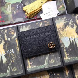 Gucci GG Marmont Leather Money Clip Black 436022