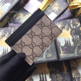 Gucci Kingsnake Print GG Supreme Card Case Khaki 451277