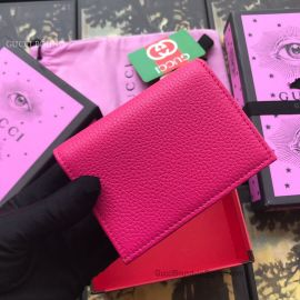 Gucci Leather Pink Card Case 456126
