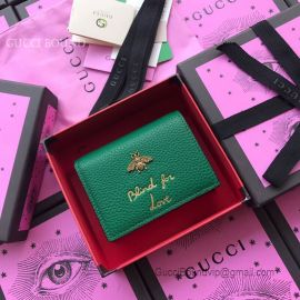 Gucci Animalier Card Case Green 460185