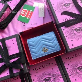 Gucci GG Marmont Blue Card Case 466492