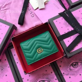 Gucci GG Marmont Card Case Green 466492