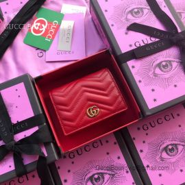 Gucci GG Marmont Card Case Red 466492