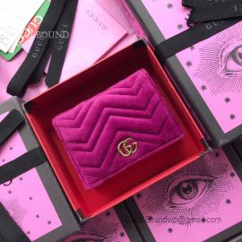 Gucci GG Marmont Velvet Card Case Purple 466492