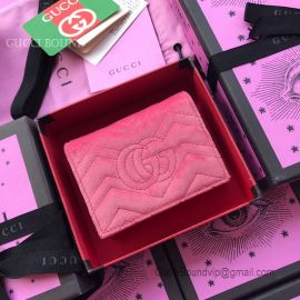 Gucci GG Marmont Velvet Card Case Pink 466492