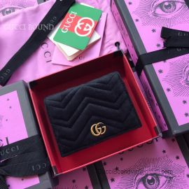 Gucci GG Marmont Velvet Card Case Black 466492