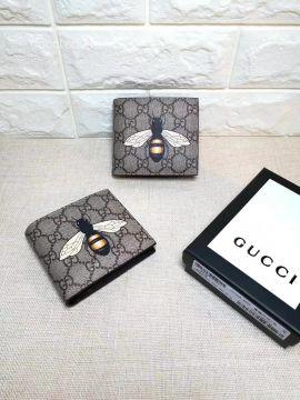 Gucci Bee print GG Supreme wallet 451268 211759